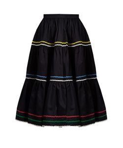 ANNA OCTOBER | Ric-Rac Trimmed Cotton Skirt