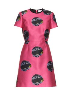 Caterina Gatta | Virginia Woolf-Print Satin Dress
