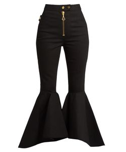 Ellery | Alejandro Ruffled-Panel Cropped Jeans
