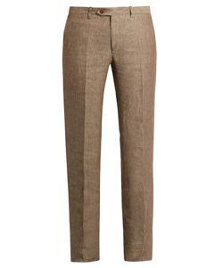 Brioni | Straight-Leg Linen Trousers