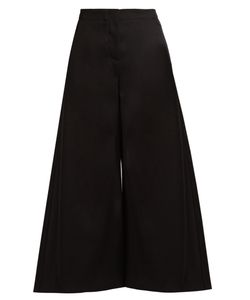 Roksanda | Tove Wide-Leg Wool-Twill Cropped Trousers