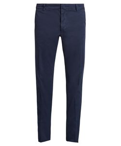 Valentino | Embellished Slim-Leg Cotton-Blend Trousers