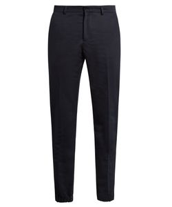 AMI | Cotton And Linen-Blend Trousers