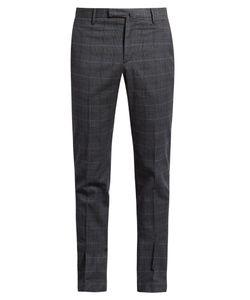 Incotex | Slim-Leg Checked Cotton-Blend Trousers