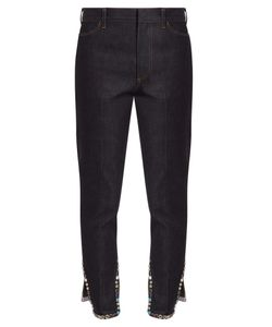 Toga | Stud-Embellished Cropped Straight-Leg Jeans