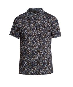 Fendi | -Print Cotton-Piqué Polo Shirt
