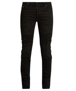 MARCELO BURLON | Distressed Slim-Leg Jeans