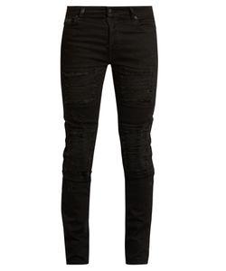 MARCELO BURLON | Distressed Slim-Leg Jeans