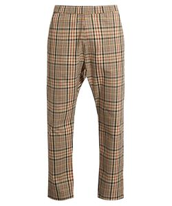 BARENA VENEZIA | Checked Wide-Leg Cotton-Twill Trousers