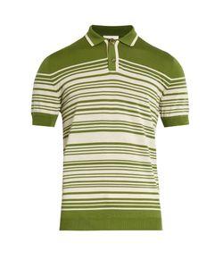 Orley | Brooks Striped Merino-Wool Polo Shirt