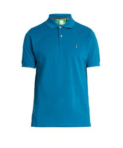 Paul Smith | Mushroom-Embroide Cotton Polo Shirt