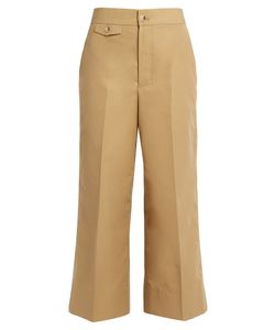 Helmut Lang | High-Rise Wide-Leg Cotton-Faille Trousers