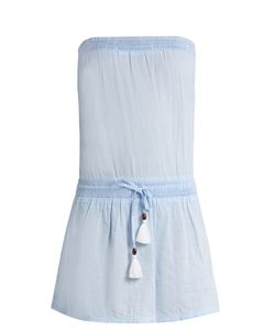 Heidi Klein | Corsica Strapless Cotton-Chambray Dress