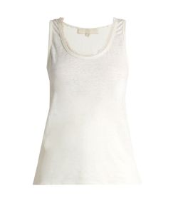Vanessa Bruno | Early Frayed-Neck Linen Top