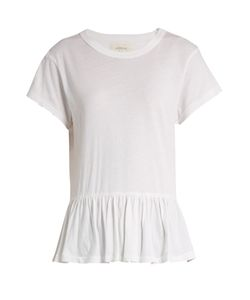 The Great   The Ruffle Cotton T-Shirt