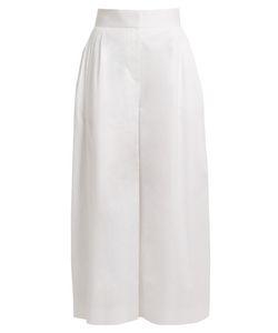 The Row | Lado Wide-Leg Cotton Trousers