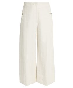 Lemaire | Wide-Leg Cropped Coated-Linen Trousers