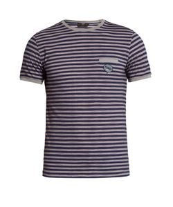 Fendi | Striped Cotton-Piqué T-Shirt