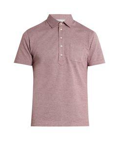 Brunello Cucinelli | Short-Sleeved Cotton-Piqué Polo Shirt