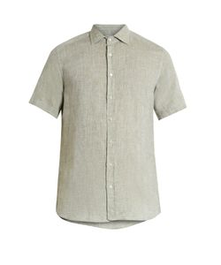 Etro | Regular-Fit Short-Sleeved Linen Shirt