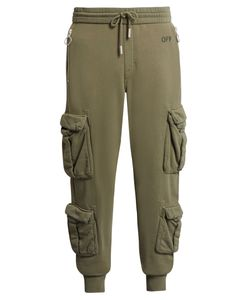 Off-White | Distressed Cargo Cotton-Jersey Track Pants
