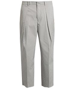 TOMORROWLAND | Striped Cotton-Blend Wide-Leg Trousers