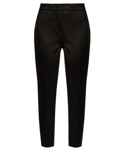 MSGM | Hammered-Satin Cropped Trousers