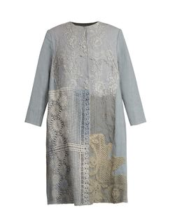 By Walid | 19th-Century Lace-Panelled Linen Coat