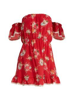 Athena Procopiou   Gypsy Soul Off-The-Shoulder Silk Mini Dress