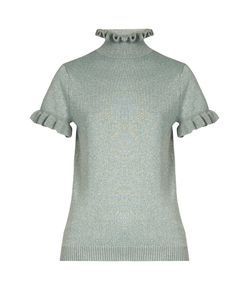 Shrimps | Mary Frill-Trimmed Wool-Blend Top