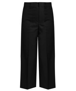 Vince | Wide-Leg Cropped Cotton-Sateen Trousers