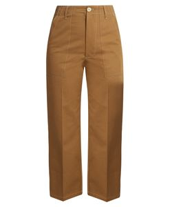 Golden Goose Deluxe Brand | Contrast-Stitch Wide-Leg Trousers