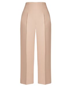 Fendi | High-Rise Wool And Silk-Blend Cropped Trousers