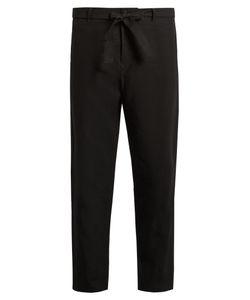 TOMORROWLAND | Wide-Leg Cropped Linen Trousers
