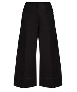 Lemaire | Cotton And Linen-Blend Wide-Leg Cropped Trousers