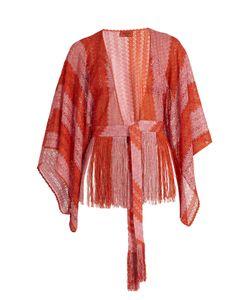 Missoni Mare   Fringed Fine-Knit Cropped Kaftan