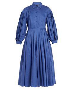 Vika Gazinskaya | Balloon-Sleeve Cotton-Poplin Dress