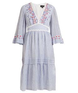 Saloni | June Striped Seersucker Dress