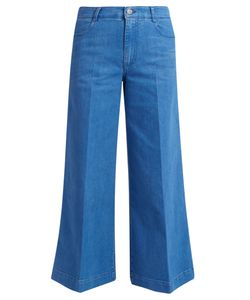 Stella McCartney | High-Waisted Denim Culottes