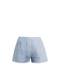 THIERRY COLSON | Armand Pleated Cotton And Silk-Blend Voile Shorts
