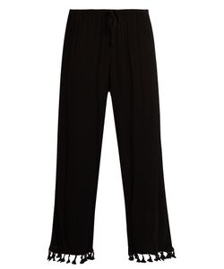 Velvet by Graham & Spencer | Nevia Tassel-Trimmed Cropped Trousers