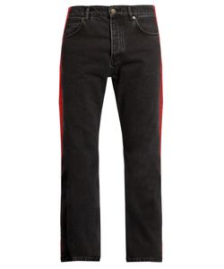 Balenciaga | Side-Striped Straight-Leg Jeans