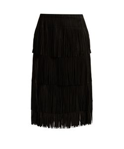 Pleats Please By Issey Miyake | Tiered-Fringe Pleated Midi Skirt