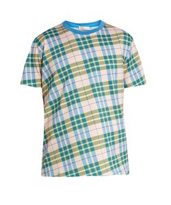 Orley | Check-Print Cotton-Jersey T-Shirt