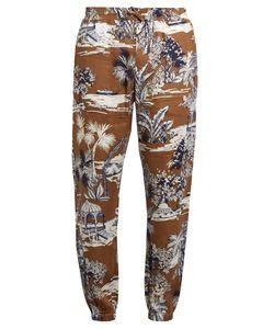 Etro | Gazebo Tree-Print Linen Trousers