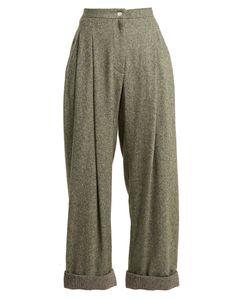 Natasha Zinko | High-Rise Wide-Leg Wool-Blend Trousers