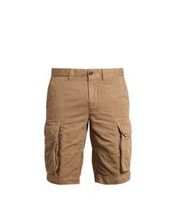 Incotex   Cargo-Pocket Cotton And Linen-Blend Shorts