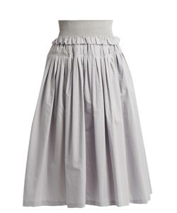 Brock Collection | Sibylle Cotton And Silk-Blend Skirt