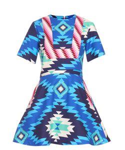 House Of Holland | Short-Sleeved Geometric Ikat-Print Dress