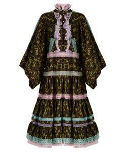 Natasha Zinko   Lace-Trimmed Camouflage-Print Cotton Midi Dress